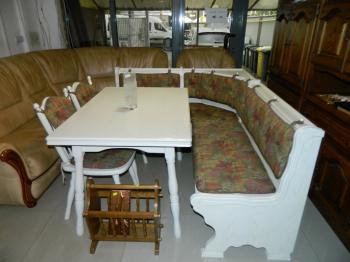 Coltar bucatarie+masa+2 scaune lemn masiv